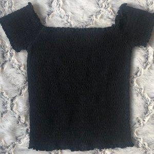 Hollister Black Ruched Top